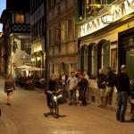 Dominikanerstraße und Sandstraße am Abend