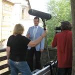 Bürgermeister und Tourismusreferent Lange im Interview vor dem Alten Rathaus