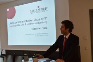 Sebastian Gries beim Offenen Forum Tourismus in Bamberg