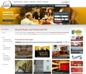 Screenshot der Website www.bamberg.info